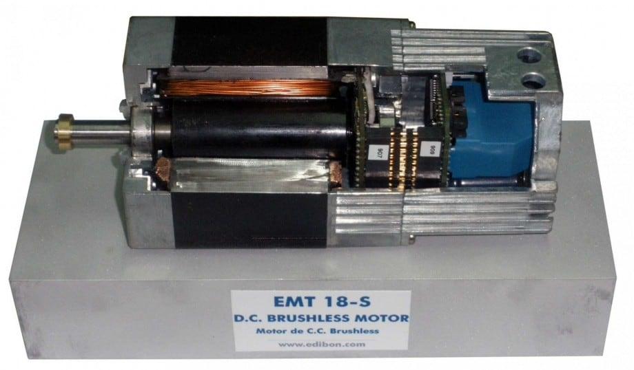CUTAWAY DC BRUSHLESS MOTOR - EMT18-S