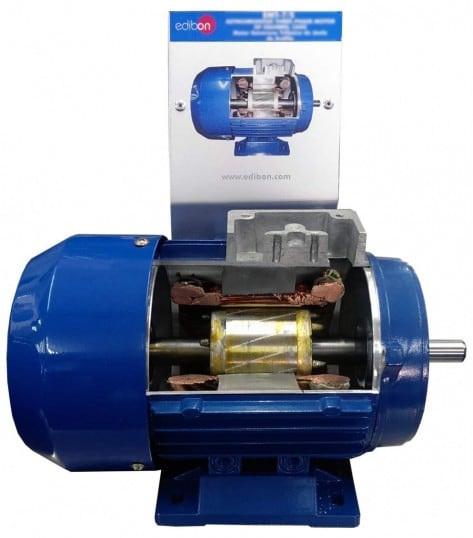 CUTAWAY 1PH SQUIRREL-CAGE MOTOR WITH SPLIT PHASE - EMT20-S