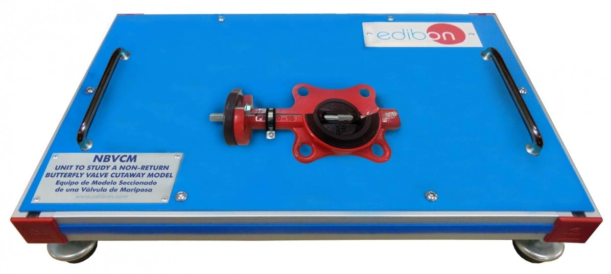 UNIT TO STUDY A NON-RETURN BUTTERFLY VALVE CUTAWAY MODEL - NBVCM