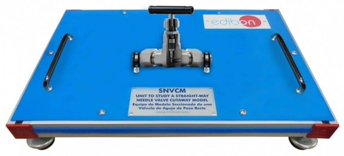 UNIT TO STUDY A STRAIGHT-WAY NEEDLE VALVE CUTAWAY MODEL - SNVCM
