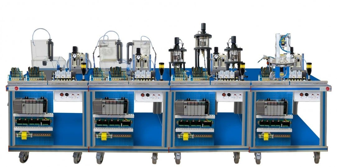 FLEXIBLE MANUFACTURING SYSTEM  4 - AE-PLC-FMS4