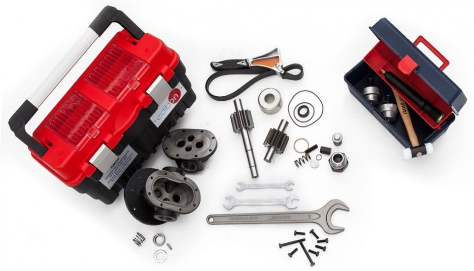 ASSEMBLY AND MAINTENANCE OF A GEAR PUMP UNIT - AMGP