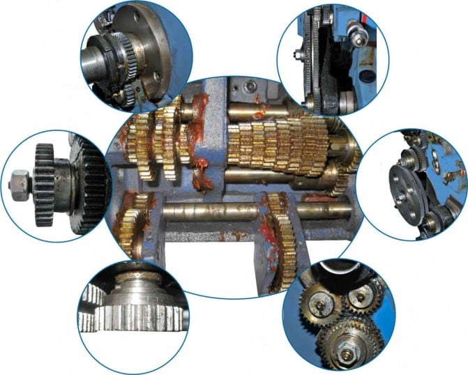 UNIT TO STUDY LATHE GEARS - MSLG