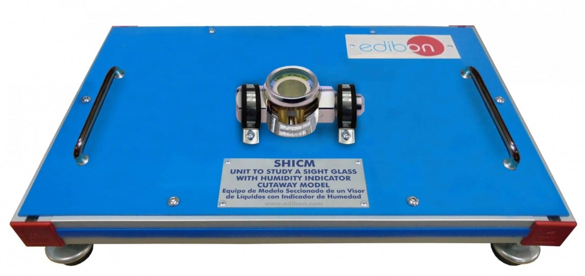 UNIT TO STUDY A SIGHT GLASS WITH HUMIDITY INDICATOR CUTAWAY MODEL - SHICM
