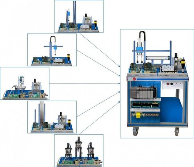 ROTARY TABLE WORKSTATION 4 - AE-PLC-MR4