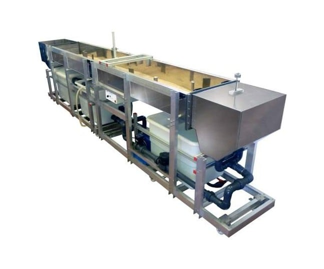 MOBILE BED AND FLOW VISUALIZATION UNIT (WORKING SECTION: 4000X610 MM) - HVFLM-4