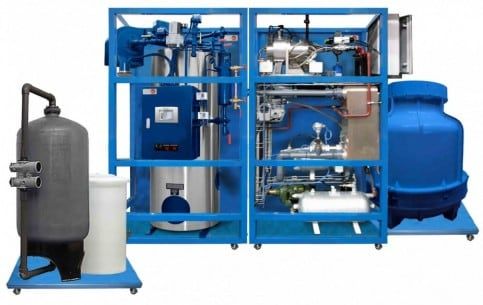 COMPUTER CONTROLLED STEAM POWER PLANT ADJUSTABLE UP TO 20 KW - TPTVC/20kW
