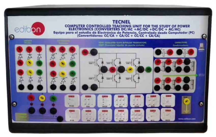 COMPUTER CONTROLLED TEACHING UNIT FOR THE STUDY OF POWER ELECTRONICS (WITH IGBTS) - TECNEL