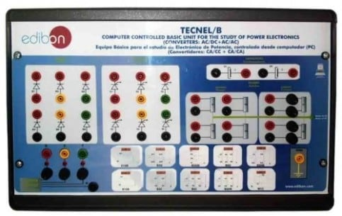 COMPUTER CONTROLLED BASIC TEACHING UNIT FOR THE STUDY OF POWER ELECTRONICS (NO IGBTS). (CONVERTERS: AC/DC+AC/AC) - TECNEL/B
