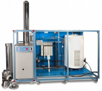 COMPUTER CONTROLLED HOT WATER PRODUCTION AND HEATING TEACHING UNIT - EACC