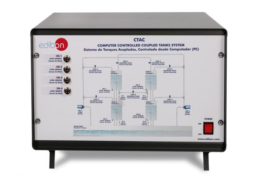 COMPUTER CONTROLLED COUPLED TANKS SYSTEM - CTAC
