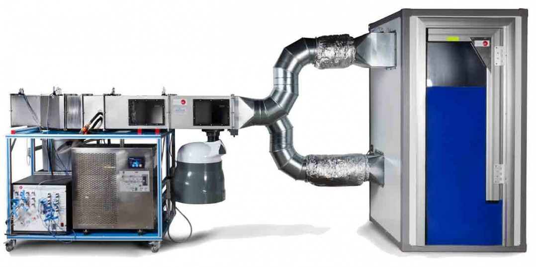 COMPUTER CONTROLLED AIR CONDITIONING UNIT WITH CLIMATIC CHAMBER AND WATER CHILLER - TACC