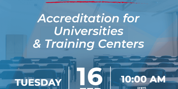 Webinar: Acreditationfor Universities and Training Centers