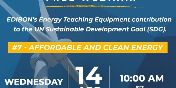 Webinar: EDIBON's Energy Teaching Equipment contribution to the UN SDG