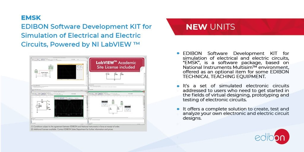 EMSK. EDIBON Development KIT for Circuits Simulation, Powered by NI LabVIEW™