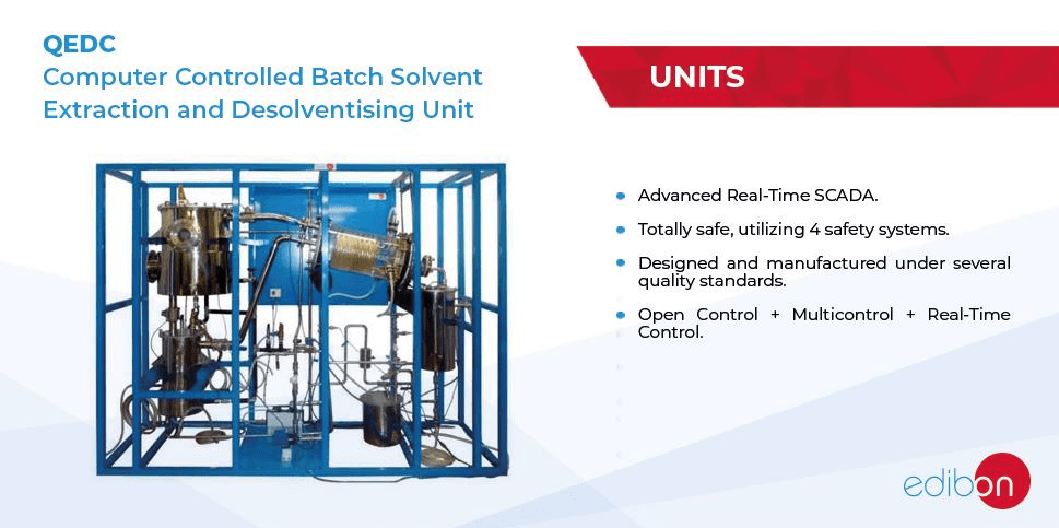 Computer Controlled Batch Solvent Extraction and Desolventising Unit